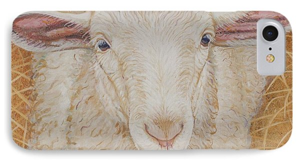 Sheep iPhone 8 Case - Lamb Of God by Christine Belt