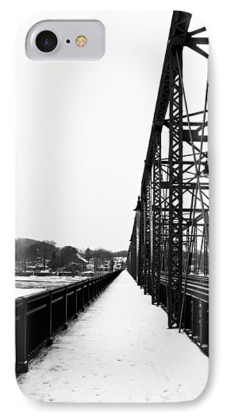 Lambertville New Hope Bridge In Winter IPhone Case