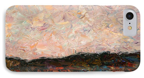 Impressionism iPhone 8 Case - Land And Sky by James W Johnson