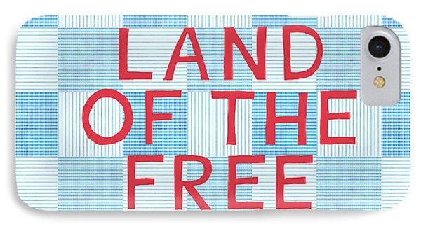 American iPhone 8 Case - Land Of The Free by Linda Woods