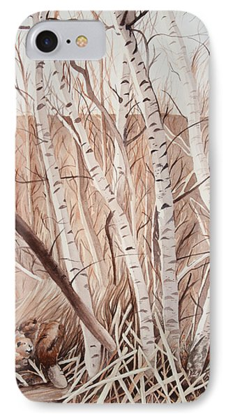 Land Of The Silver Birch IPhone Case