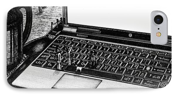 Laptop IPhone Case