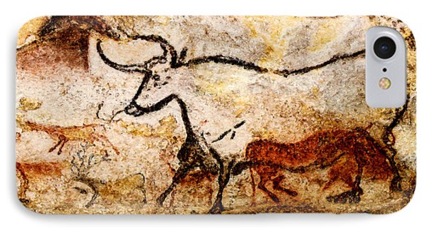 Lascaux Hall Of The Bulls - Aurochs IPhone Case