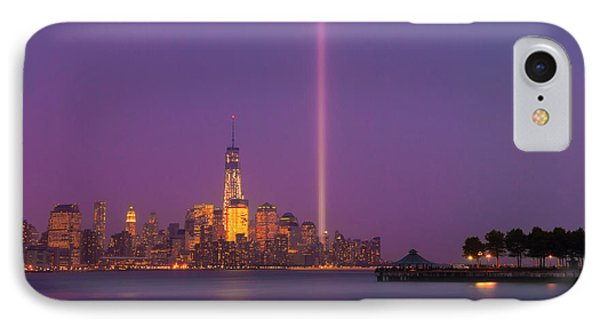 Laser Twin Towers In New York City IPhone Case