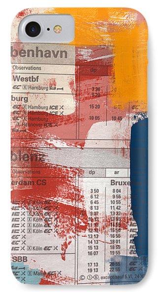 Last Train To Kobenhavn- Art By Linda Woods IPhone Case