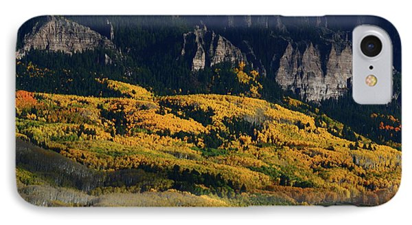 Late Afternoon Light On Aspen Groves At Silver Jack Colorado IPhone Case