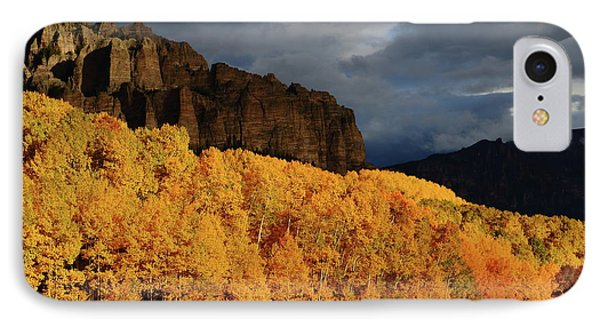 Late Afternoon Light On The Cliffs Near Silver Jack Reservoir In Autumn IPhone Case