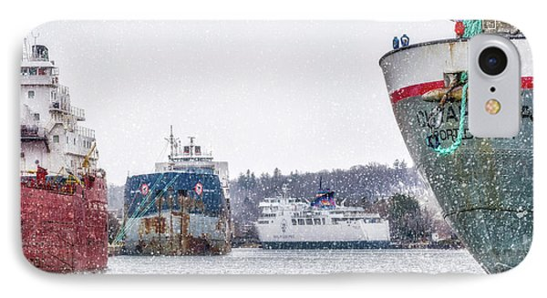 Late Harbour Snow IPhone Case