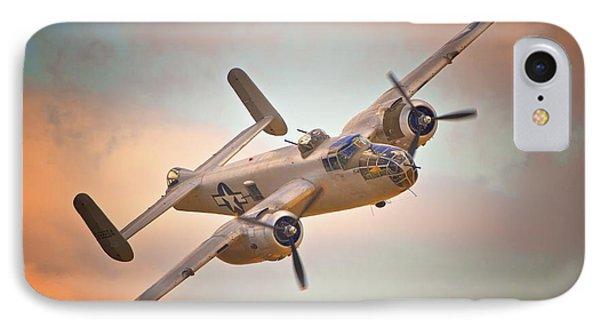Late Return,north American B-25 Mitchell  IPhone Case