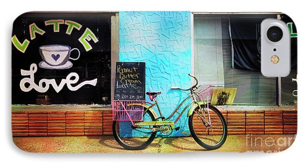IPhone Case featuring the photograph Latte Love Bicycle by Craig J Satterlee
