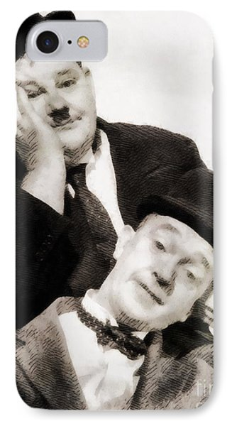 Laurel And Hardy, Vintage Comedians IPhone Case