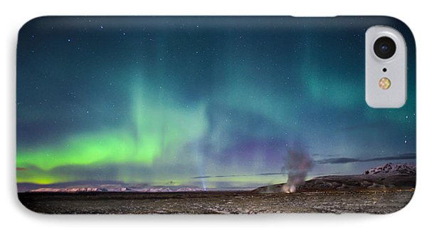 Lava And Light - Aurora Over Iceland IPhone Case