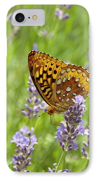 Lavender And Butterfly 2 IPhone Case