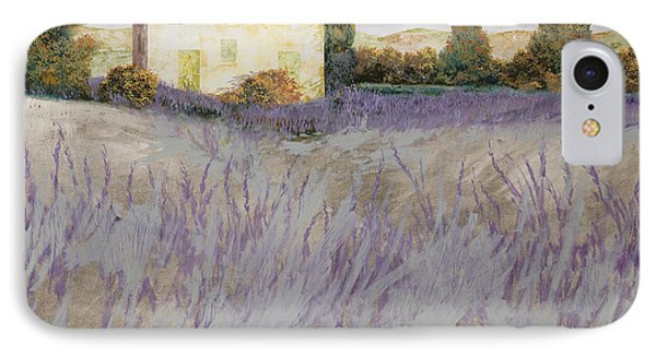 Rural Scenes iPhone 8 Case - Lavender by Guido Borelli