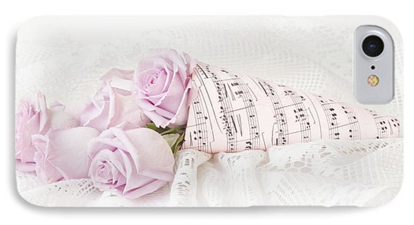 Lavender Roses And Music IPhone Case