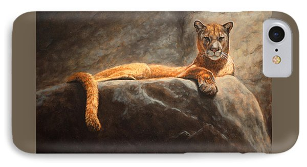 Laying Cougar IPhone Case