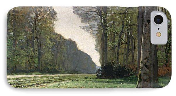 Rural Scenes iPhone 8 Case - Le Pave De Chailly by Claude Monet