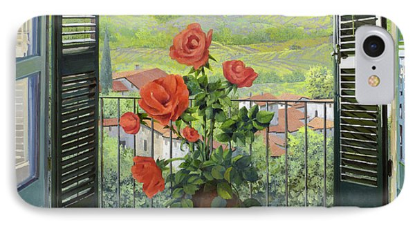 Rose iPhone 8 Case - Le Persiane Sulla Valle by Guido Borelli