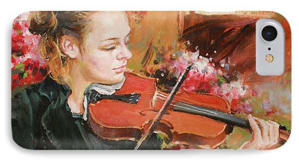 Violin iPhone 8 Case - Learning The Violin by Conor McGuire