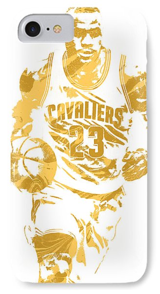 Lebron James Cleveland Cavaliers Pixel Art 7 IPhone Case