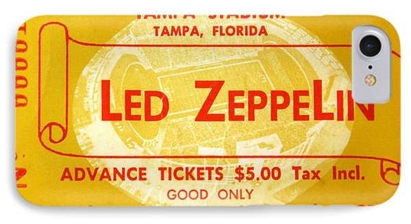 Music iPhone 8 Case - Led Zeppelin Ticket by David Lee Thompson