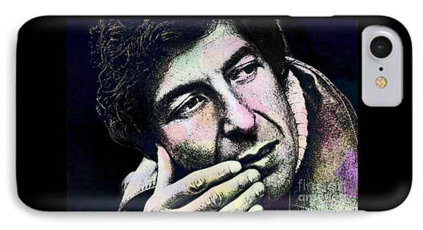 Leonard Cohen - Drawing Tribute IPhone Case