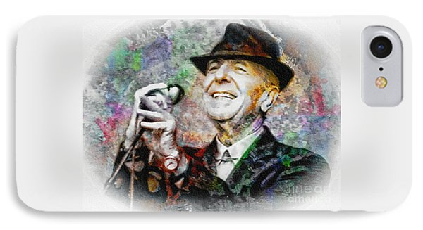 Leonard Cohen - Tribute Painting IPhone Case
