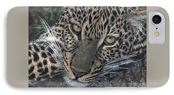 Leopard Portrait IPhone Case