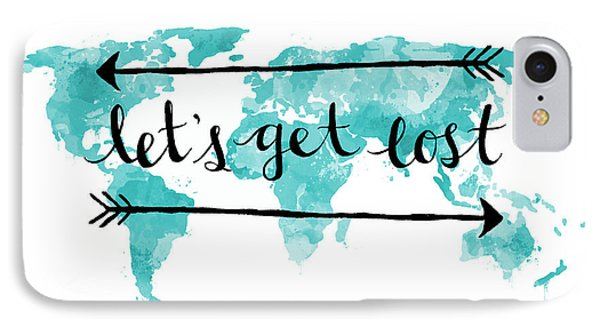 Lets Get Lost 16x20 IPhone Case