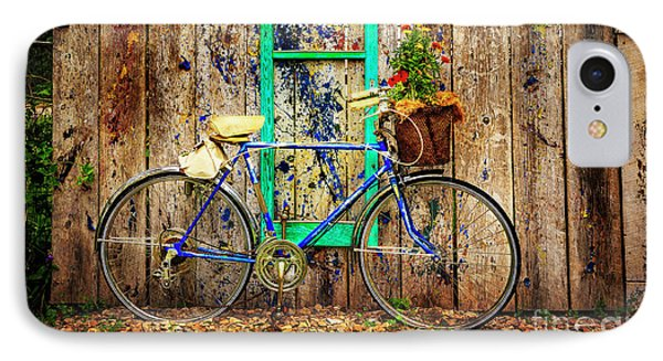 IPhone Case featuring the photograph Lewistown Garden Bicycle by Craig J Satterlee