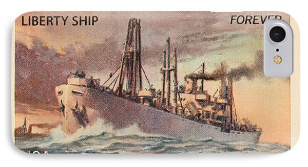 Liberty Ship Stamp IPhone Case