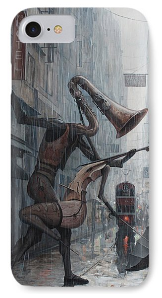 Violin iPhone 8 Case - Life Is  Dance In The Rain by Adrian Borda