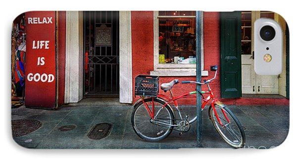 IPhone Case featuring the photograph Life Is Good Bicycle by Craig J Satterlee