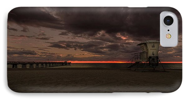 Lifeguard Tower At Sunrise IPhone Case