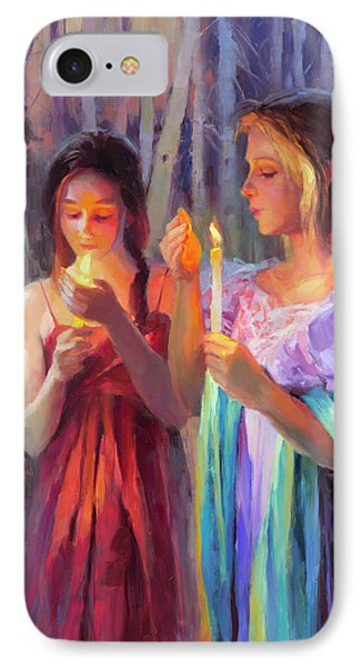 Beauty In Nature iPhone 8 Case - Light In The Forest by Steve Henderson