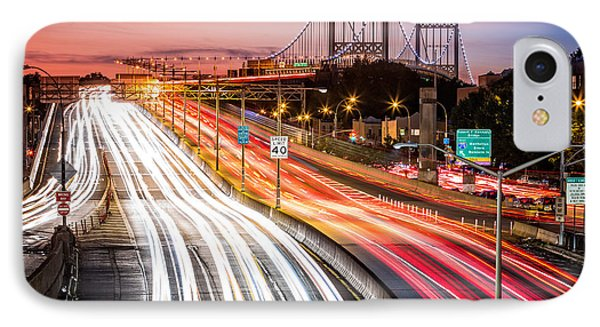 Light Trails On I-278 Near Triboro Bridge IPhone Case