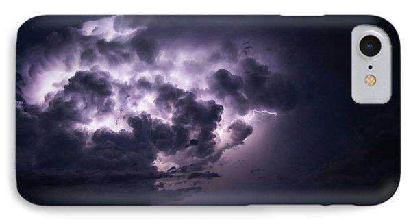 Lightening At Night IPhone Case