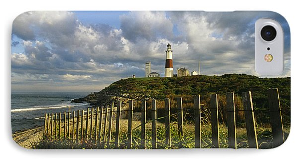 Lighthouse At Montauk With Dramatic Sky IPhone Case