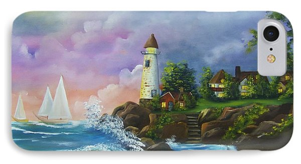 Lighthouse By The Village IPhone Case