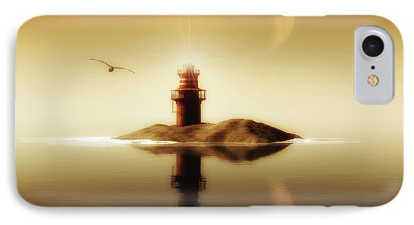 Lighthouse In A Calm Sea IPhone Case