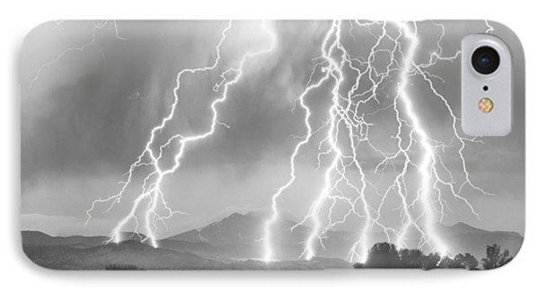 Lightning Striking Longs Peak Foothills 4cbw IPhone Case