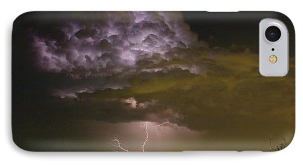 Lightning Thunderstorm With A Hook IPhone Case
