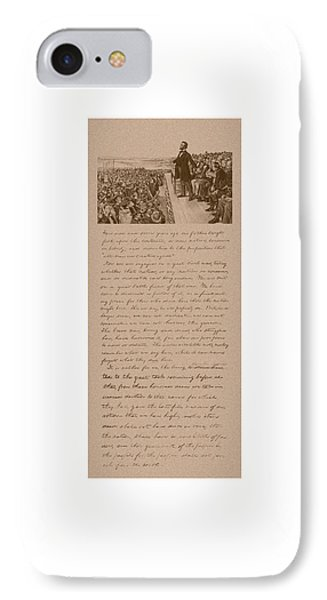 Lincoln And The Gettysburg Address IPhone Case