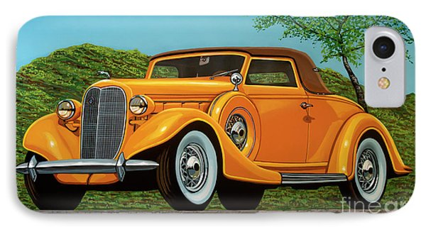Lincoln K Convertible 1935 Painting IPhone Case