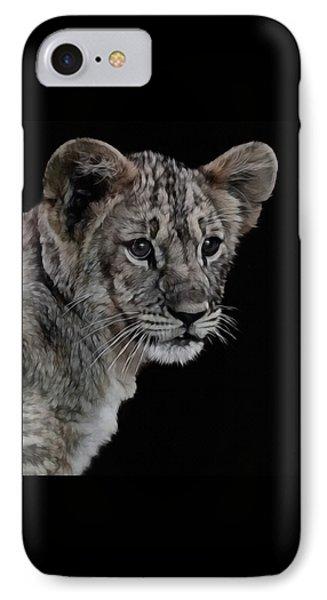 Lion Cub Portrait IPhone Case