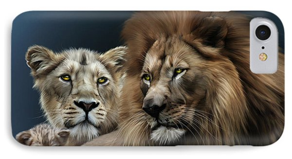 Lion Family IPhone Case