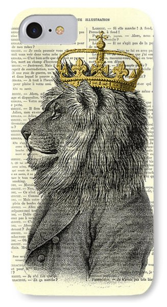 England iPhone 8 Case - Lion King by Madame Memento