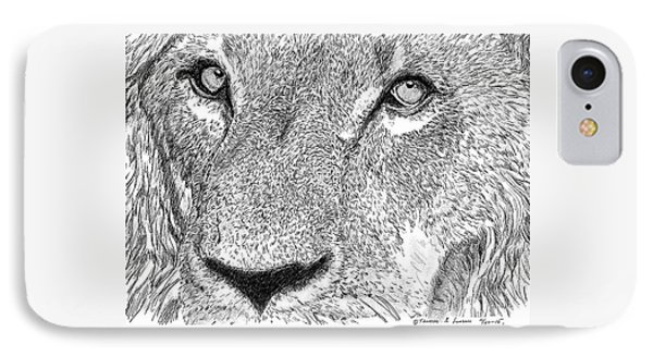 Lion Sketch IPhone Case
