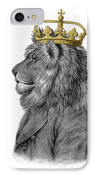 England iPhone 8 Case - Lion The King Of The Jungle by Madame Memento
