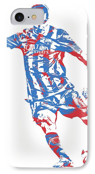 Lionel Messi F C Barcelona Argentina Pixel Art 6 IPhone Case